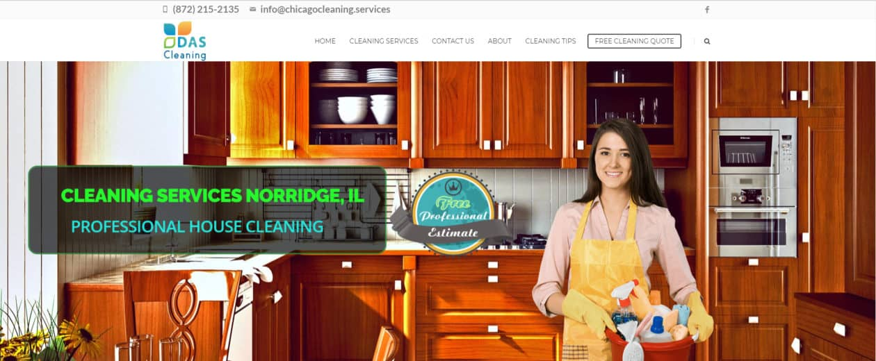 chicago cleaning service website