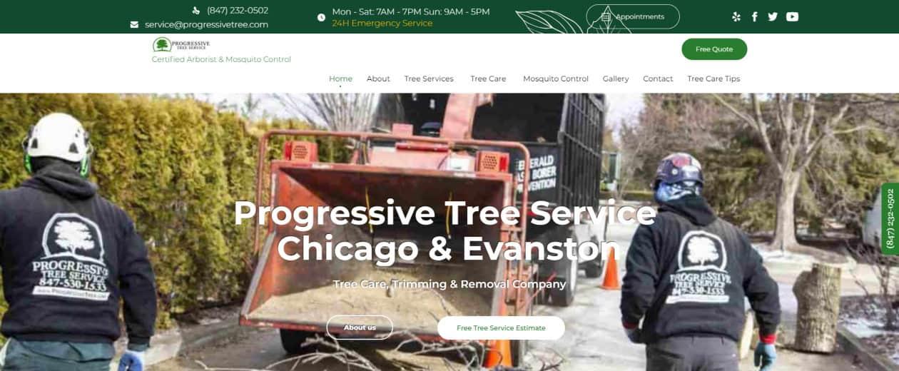 progressive tree service website