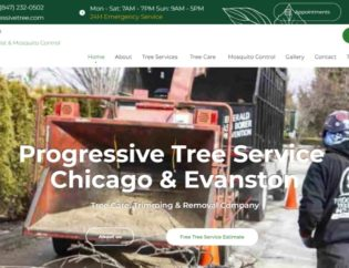 progressive tree service website