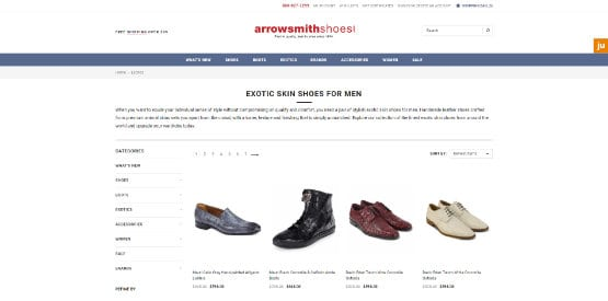 arrowsmith shoes ecommerce