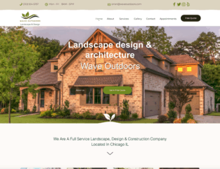 chicago landscaping web design