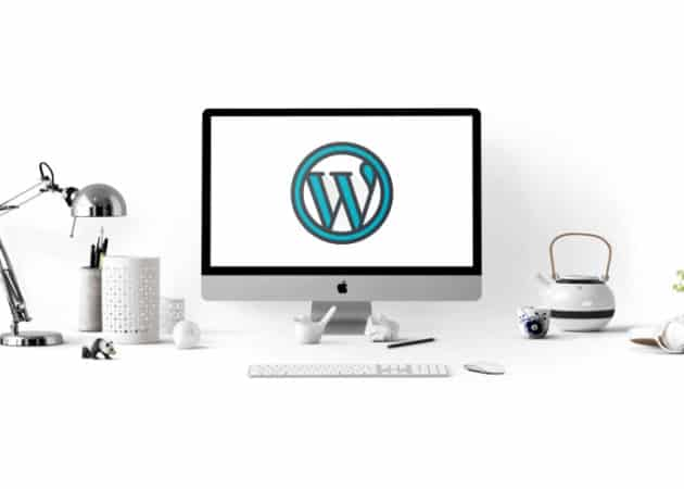 Wordpress Logo on Mac screen