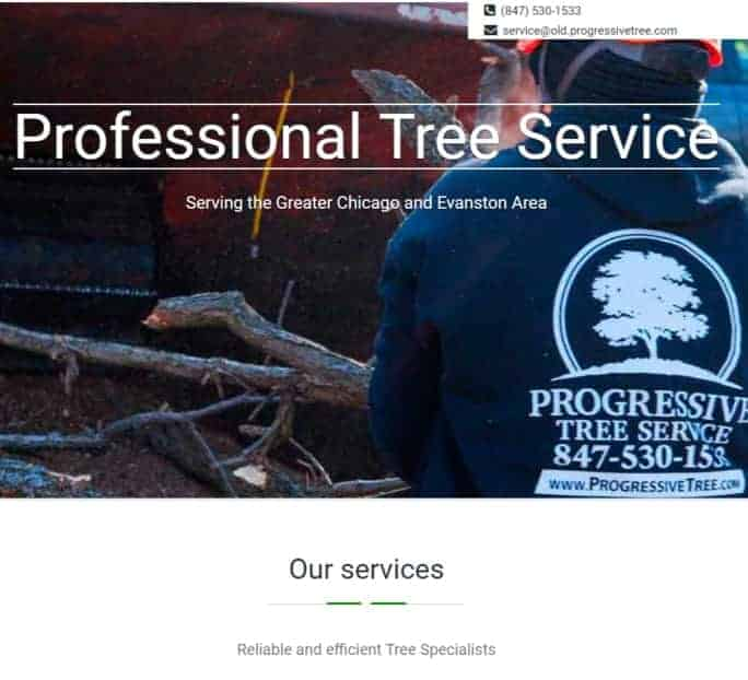 old progressive tree service website